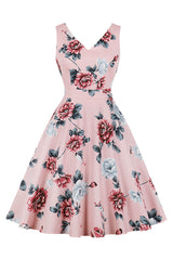 Floral Rockabilly Midi Party Dress
