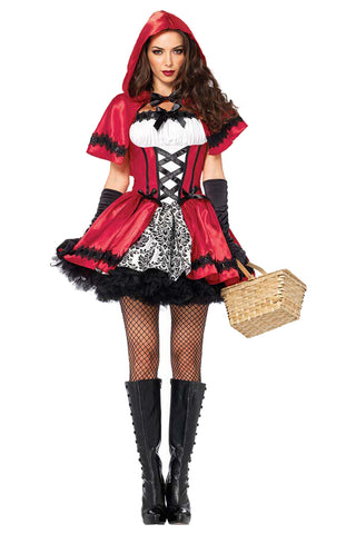 Atomic 4-Piece Red Hooded Costume