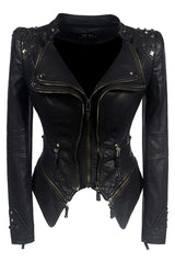 Faux Leather Gothic Motorcycle Jacket