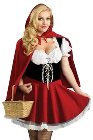 Alluring Red Riding Hood Inspired Costume