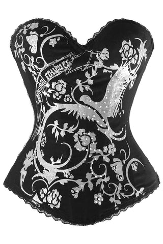 White Magic Dove and Flower Corset