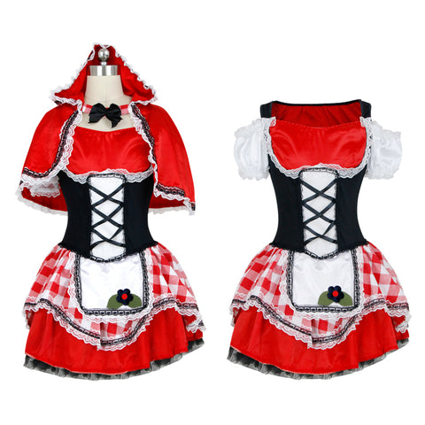 Atomic Gingham Red Riding Hood Inspired Costume