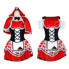 Atomic Gingham Hooded Woman Costume