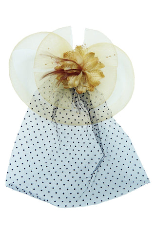Yellow Flower Topper with Veil