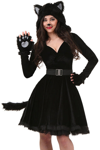 Black Unlucky Cat Costume
