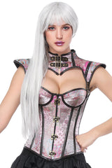 Atomic Pink Steampunk Overbust Corset