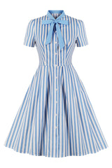 Royal Blue Pinup Collar Dress