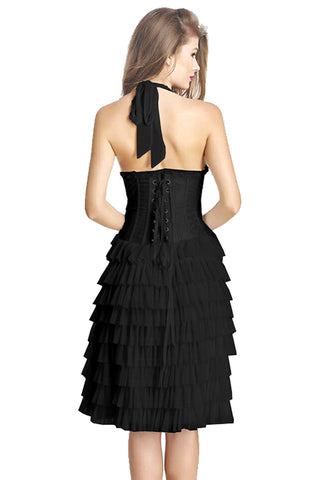 Atomic Black Burlesque Ruffles Tutu Corset Dress