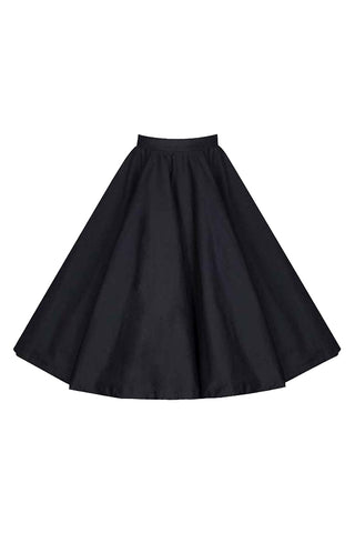 Atomic Black Flared Swing Skirt