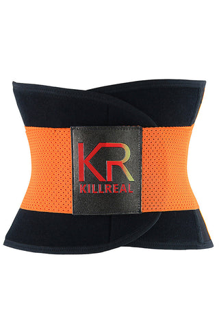 Orange Workout Waist Trainer Belt