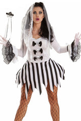 White and Black Ghost Bride Costume