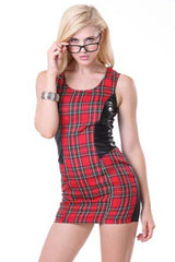 Red Naughty Schoolgirl Mini Dress