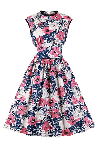 Atomic Sleeveless Floral Cocktail Dress