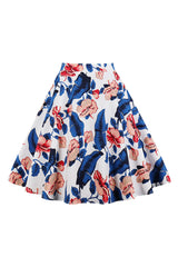 Vintage Hibiscus Rockabilly Skirt