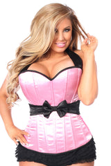 Pink Halter Corset w/ Bow