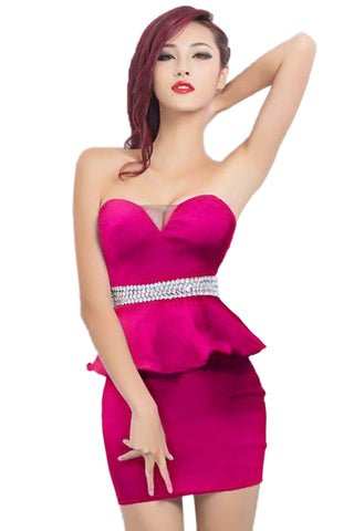 Rose Peplum Waist Dress