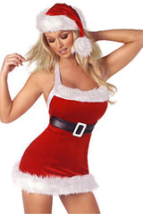 Red Seductive Santa Costume