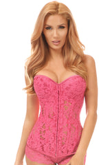 Underwire Sheer Lace Steel Boned Corset