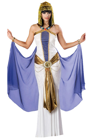 Atomic White and Blue Cleopatra Costume