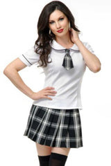 Black and White School Girl Costume