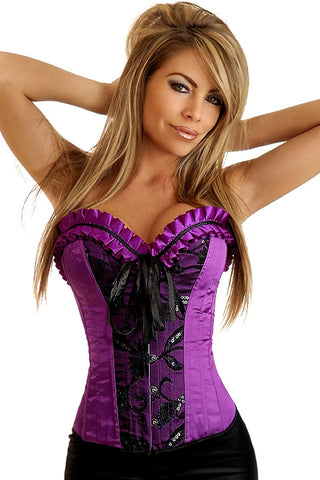 Call Me Queen Purple Pinup Corset