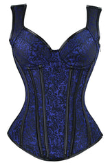 Electric Blue Steel Boned Steam Overbust Corset