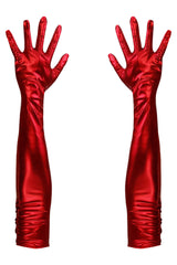 Long Wetlook Opera Gloves