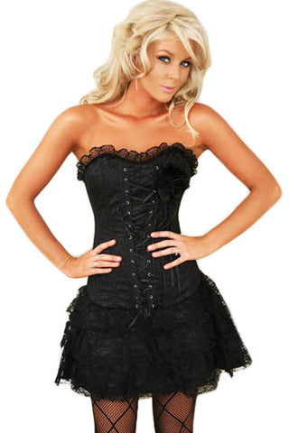 Atomic After Midnight Lace Corset Dress
