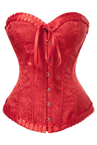 Red Sweetheart Overbust Corset