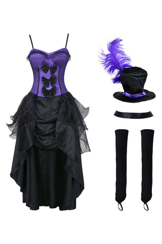 Atomic Purple Burlesque Babe Costume