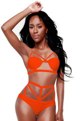 Bittersweet Orange Cut Out Swimsuit