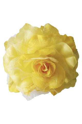 Yellow Rose Hair Clamp