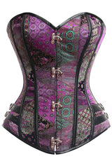 Mix It Up Purple Steel Boned Steampunk Corset