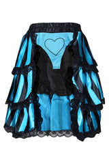 Two Piece Satin Bustle Skirt and Heartbreaker Panty
