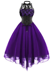 Purple Gothic With Corset Dress