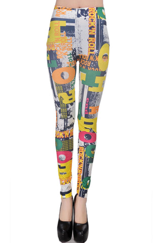 Atomic Letter Blocks Leggings