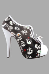 Black Skull Patterned Shoe-Boot