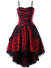 Plus Size Red Vintage Goth Corset Dress
