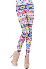 Atomic Geometric Cross Leggings