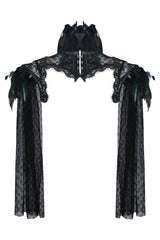 Victorian Long Feathered Corset Shrug