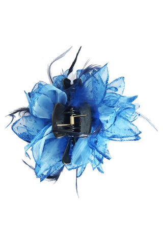 Blue Floral Hair Clamp