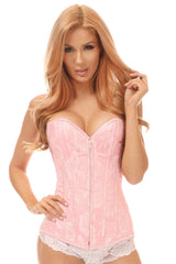 Floral Lace Zipped Overbust Corset