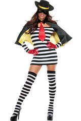 Striped Zorro Inspired Costume