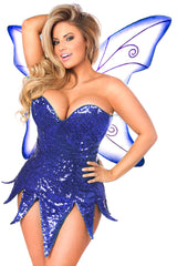 Blue Sequin Fairy Costume