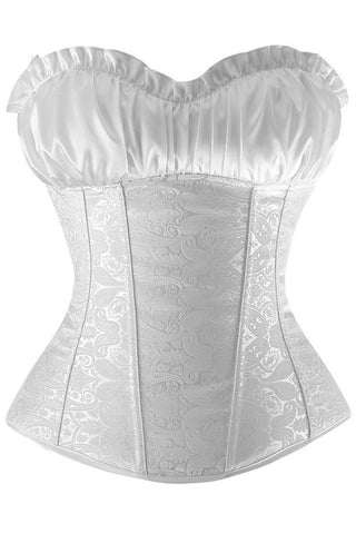 White Vintage Inspired Overbust Corset