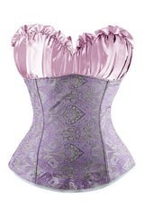 Purple Vintage Inspired Overbust Corset