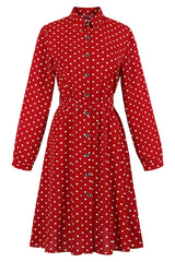 Red Polka Dot Vintage Maiden Dress