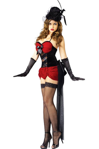 Three Piece Red Burlesque Baby Costume