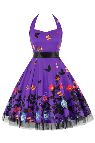 Purple Butterfly Garden Dress
