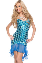 Blue Mermaid Dress Costume